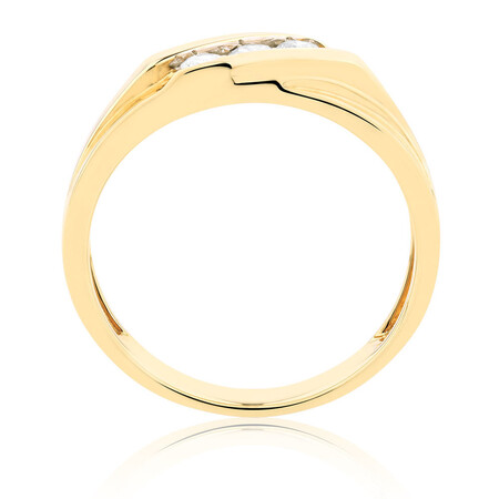 Men's Ring with 1/3 Carat TW of Diamonds in 10kt Yellow Gold