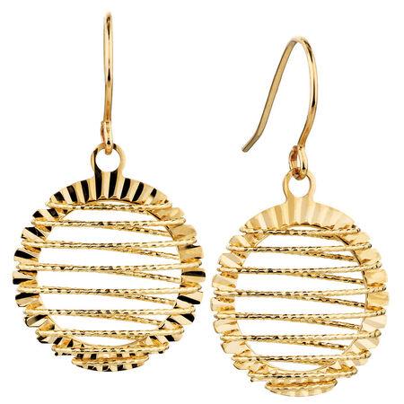 Hook Earrings in 10kt Yellow Gold