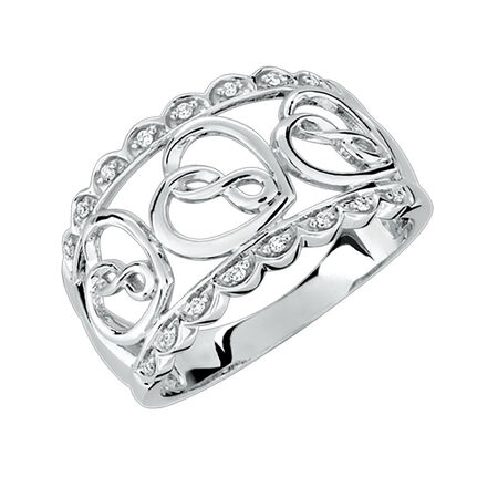 Infinitas Ring with 1/20 Carat TW of Diamonds in Sterling Silver