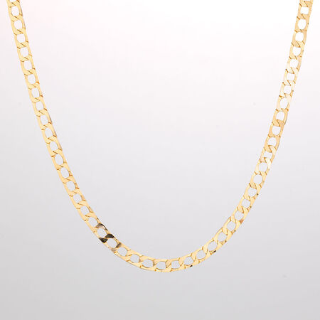 "Online Exclusive - 55cm (22"") Curb Chain in 10kt Yellow Gold"
