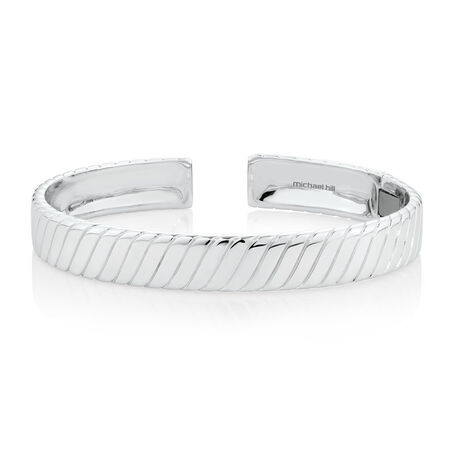 Men's Patterned Cuff Bracelet in 925 Sterling Silver