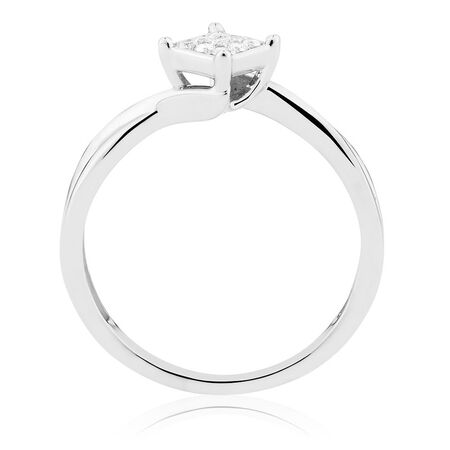 Promise Ring with 1/15 Carat TW of Diamonds in Sterling Silver