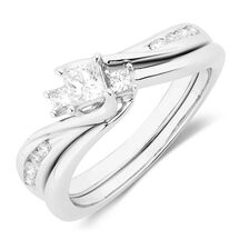 Online Exclusive - Bridal Set with 1/2 Carat TW of Diamonds in 10kt White Gold