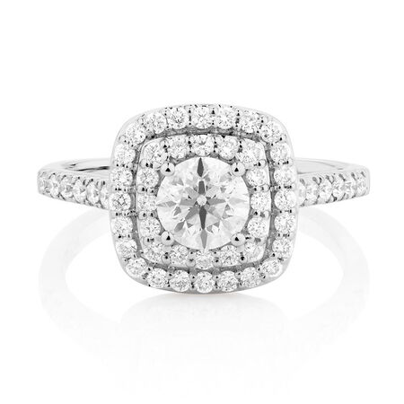 Online Exclusive - Engagement Ring with 1 1/4 Carat TW of Diamonds in 14kt White Gold