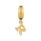 Diamond Set & 10kt Yellow Gold 'R' Charm