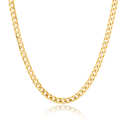 """Men's 55cm (22"""") Curb Chain in 10kt Yellow Gold"""