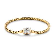 "19cm (7.5"") Charm Bracelet with 1/4 Carat TW of Diamonds in 10kt Yellow Gold"