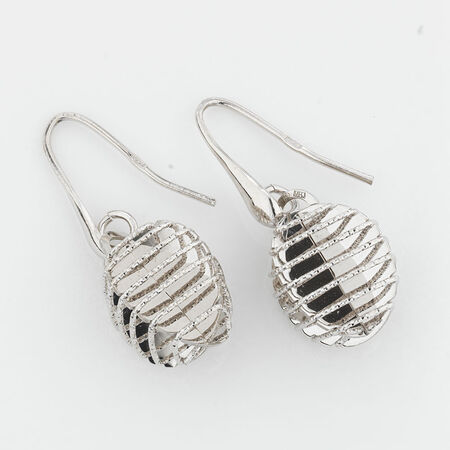 Online Exclusive - Wire Drop Earrings in Sterling Silver