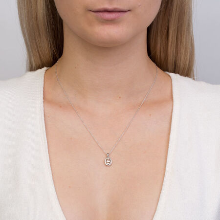 Pendant with Morganite & Diamonds in 10kt White Gold
