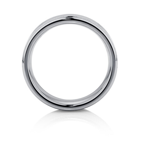 Men's Ring in Carbon Fibre & Gray Tungsten