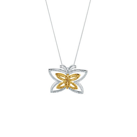Online Exclusive - City Lights Pendant with 3/8 Carat TW of Enhanced Yellow Diamonds in Sterling Silver