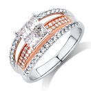 Online Exclusive - Engagement Ring with 1 Carat TW of Diamonds in 14kt White & Rose Gold