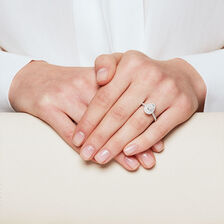 Sir Michael Hill Designer GrandArpeggio Engagement Ring with 7/8 Carat TW of Diamonds in 14kt White Gold