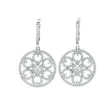 Drop Earrings with Cubic Zirconia in Sterling Silver