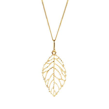Leaf Pendant in 10kt Yellow Gold
