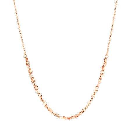 Adjustable Choker Necklace in 10kt Italian Rose Gold