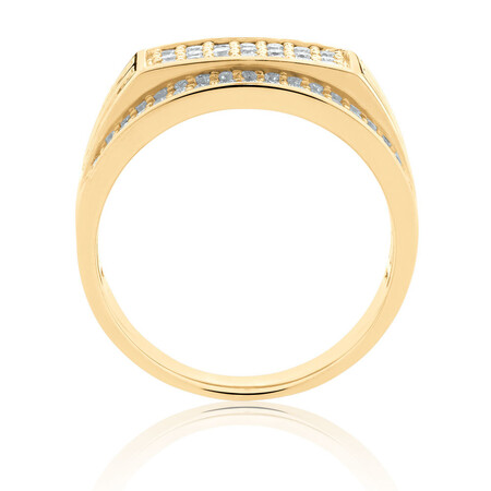 Men's Ring with 0.95 Carat TW of Diamonds in 10kt Yellow Gold
