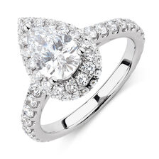 Michael Hill Designer GrandAllegro Engagement Ring with 2 Carat TW of Diamonds in 14kt White & Rose Gold