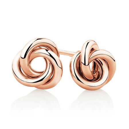 Knot Stud Earrings in 10kt Rose Gold