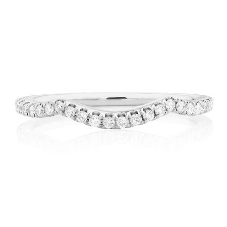 Sir Michael Hill Designer GrandAdagio Wedding Band with 1/3 Carat TW of Diamonds in 14kt White Gold