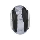 Black & Silver Murano Glass Charm