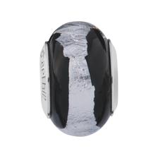 Black & Silver Murano Glass Charm