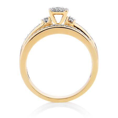 Bridal Set with 1/3 Carat TW of Diamonds in 10kt Yellow Gold