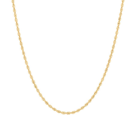 "50cm (20"") Rope Chain in 10kt Yellow Gold"