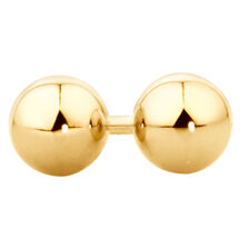 7mm Ball Stud Earrings in 10kt Yellow Gold