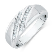 Men's Ring with 1/5 Carat TW of Diamonds in 10kt White Gold