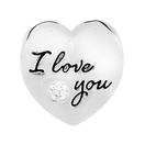 """Sterling Silver """"I Love You..."""" Heart Charm"""