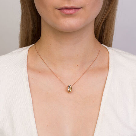 Knot Pendant in 10kt Yellow, White & Rose Gold