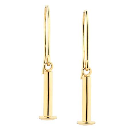 Charm Earrings in 10kt Yellow Gold