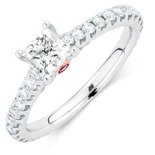 Sir Michael Hill Designer GrandAria Engagement Ring with 1 1/2 Carat TW of Diamonds in 14kt White Gold