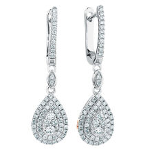 Michael Hill Designer Arpeggio Drop Earrings with 1/2 Carat TW of Diamonds in 14kt White & Rose Gold