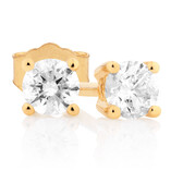 Classic Stud Earrings with 1/4 Carat TW of Diamonds in 10kt Yellow Gold