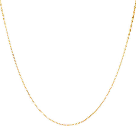 "45cm (18"") Box Chain in 14kt Yellow Gold"