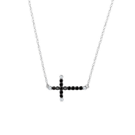 City Lights Pendant with 1/5 Carat TW of Enhanced Black Diamonds in Sterling Silver