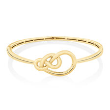 Knots Bangle in 10kt Yellow Gold
