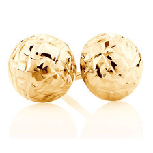 7mm Stud Earrings in 10kt Yellow Gold