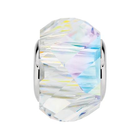 White Crystal Prism Charm