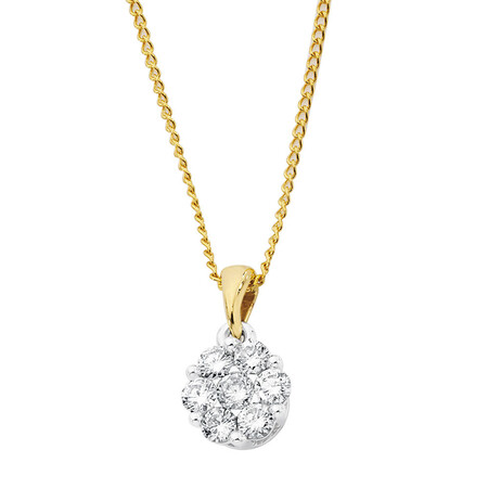Pendant with 1/2 Carat TW of Diamonds in 10kt Yellow & White Gold