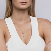 Infinitas Key Pendant in Sterling Silver & 10kt Rose Gold