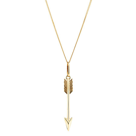 Arrow Pendant in 10kt Yellow Gold