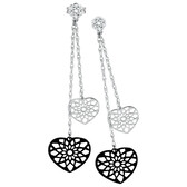 Online Exclusive - Drop Earrings with Diamonds in 10kt White Gold