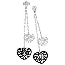 Drop Earrings with 1/15 Carat TW of Diamonds in 10kt White Gold