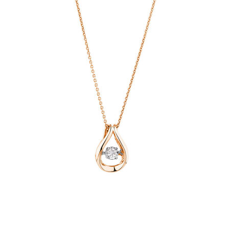 Everlight Pendant with a 1/3 Carat TW Diamond in 10kt Rose Gold