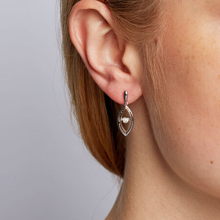 Online Exclusive - Everlight Earrings with Diamonds in Sterling Silver & 10kt Rose Gold
