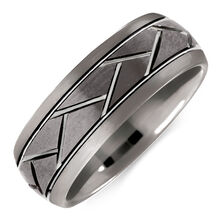 8mm Men's Ring in Gray Tungsten