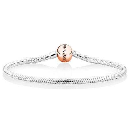 Charm Bracelet in 10kt Rose Gold & Sterling Silver